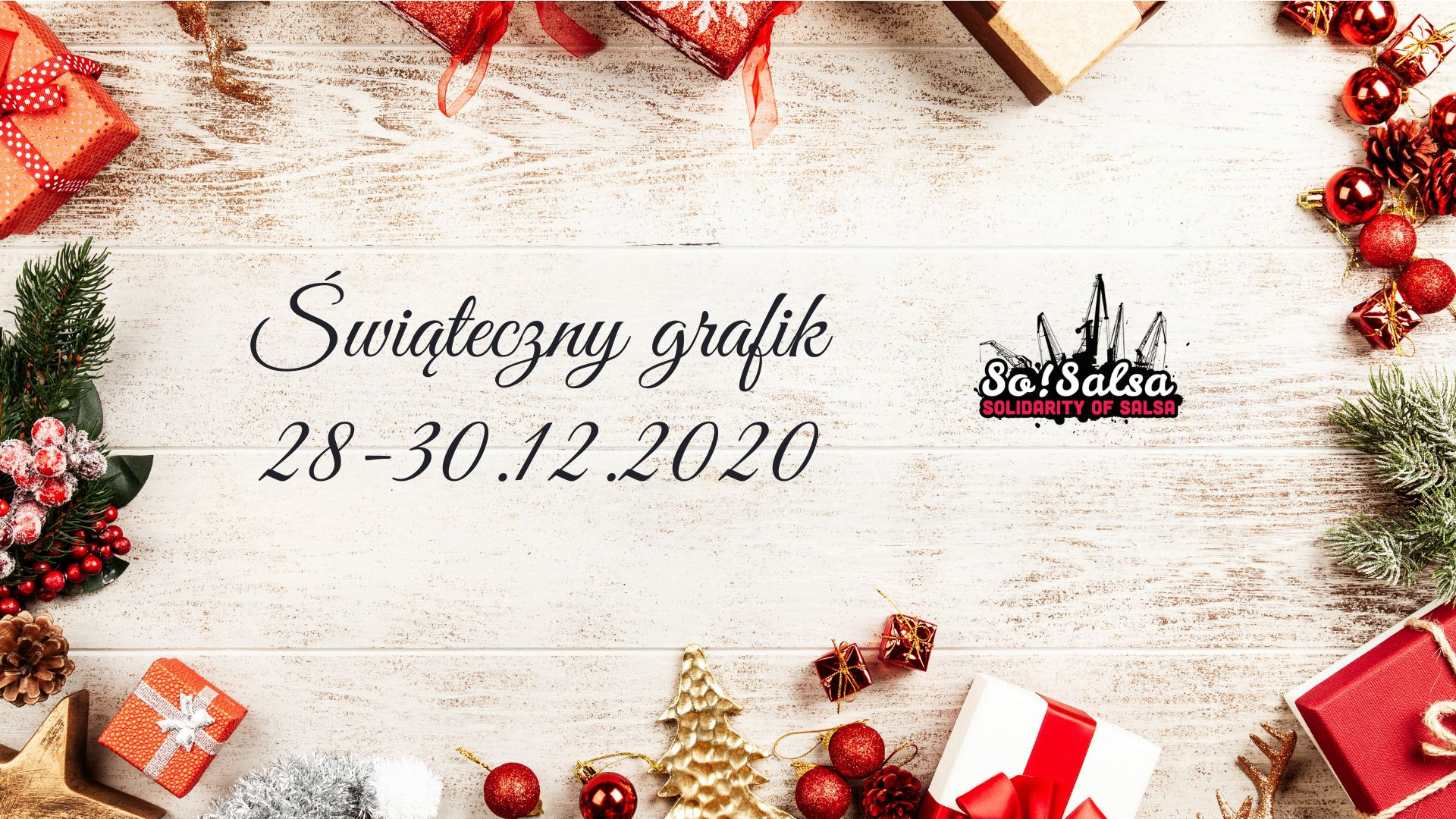 Specjalny grafik świąteczny 28, 29 i 30 grudnia