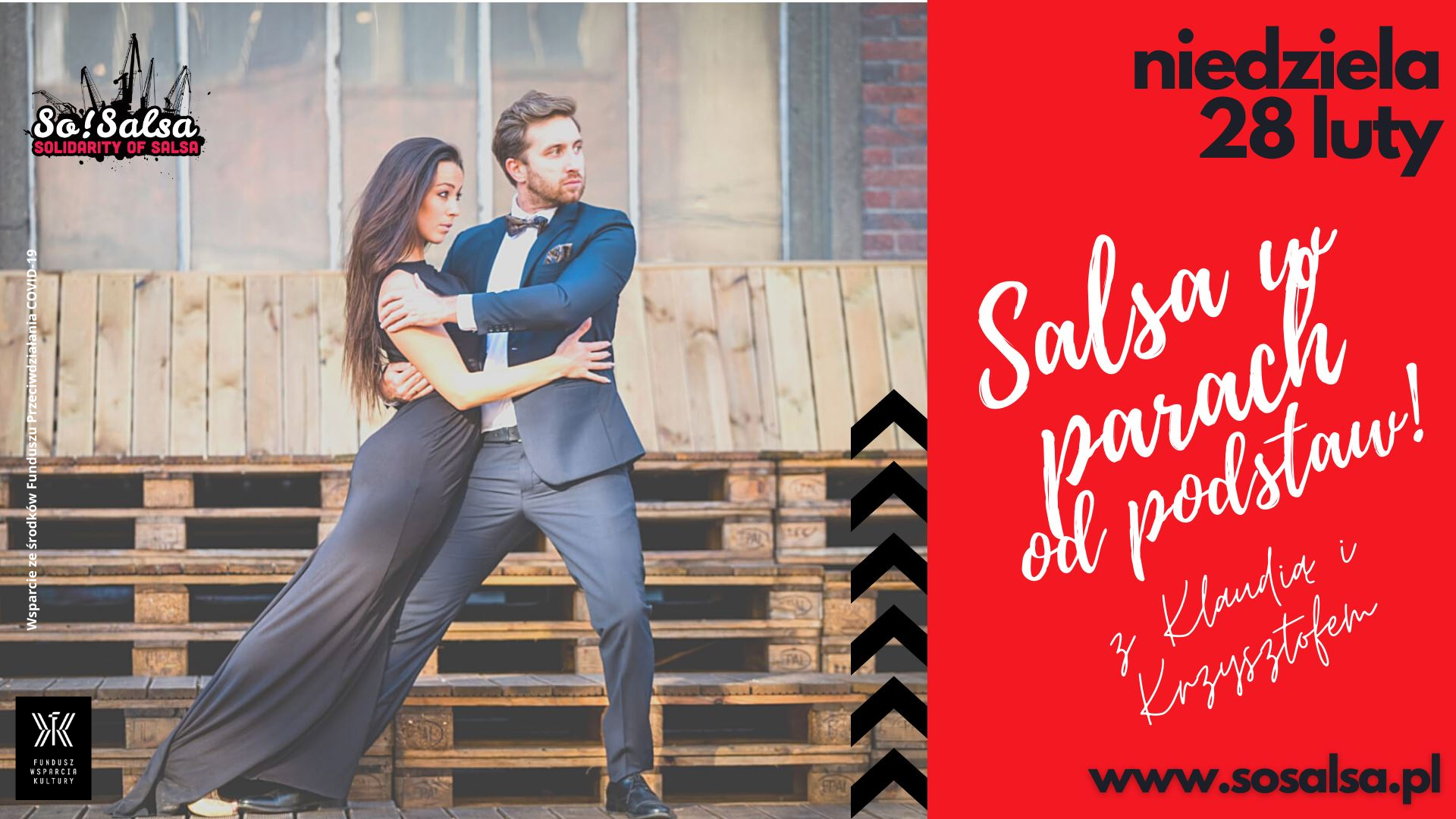 Kurs Salsy - dla początkujących 28/02/2021 w So!Salsa