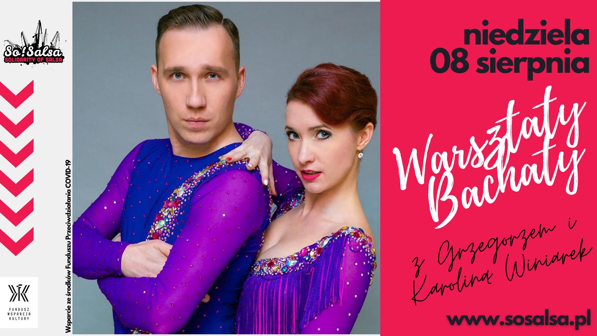 Warsztaty z Grzegorzem & Karoliną Winiarek w So!Salsa 08/08/21