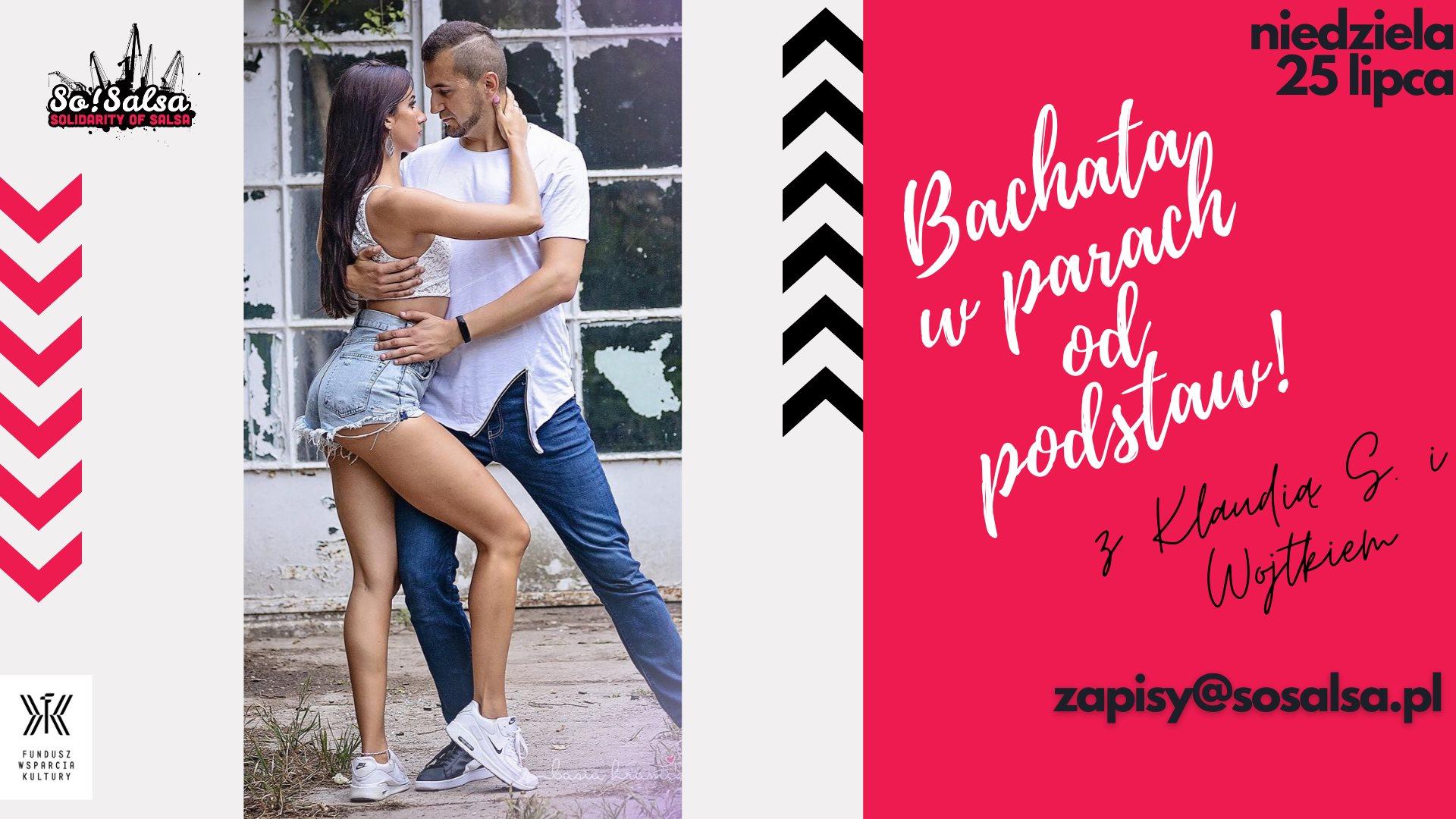 Przyspieszony kurs Bachaty w parach dla początkujących 25/07/21 w So!Salsa